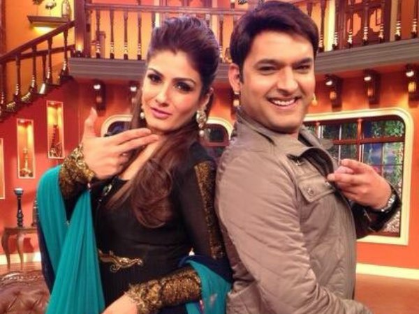 Raveena Tandon And Kapil Sharma
