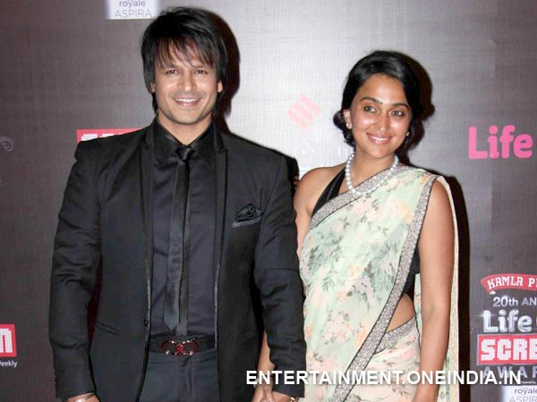 Vivek Oberoi With Wife At The 20th Annual Screen Awards
