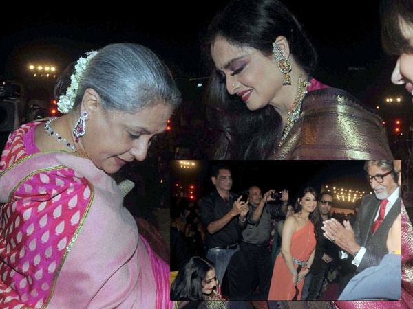 Big B with Rekha and Jaya Bachchan