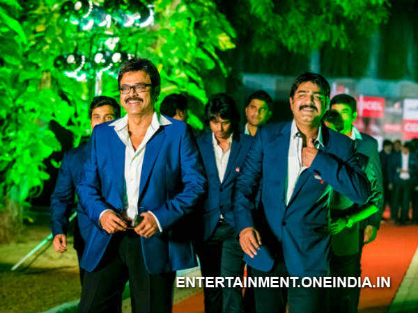 Venkatesh And Srikanth At CCl 2014 Launch