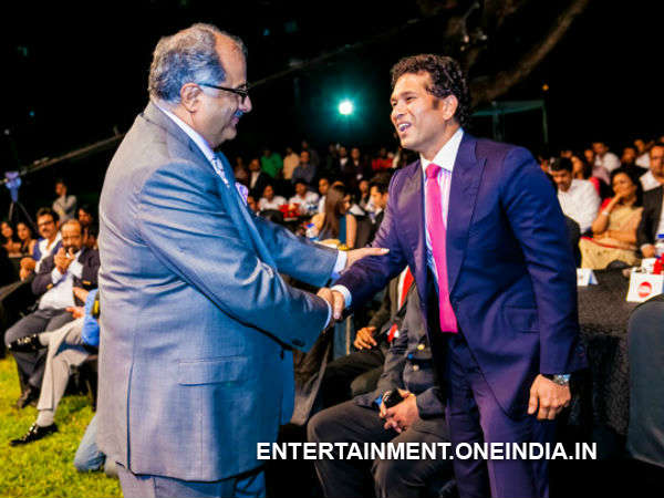 Sachin With Boney Kapoor At CCl 2014 Launch