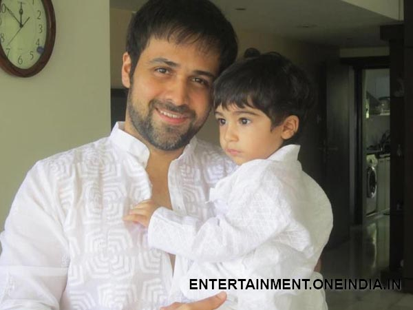 Emraan Poses With Son Ayan