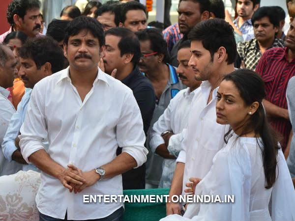 Photos: Mahesh Babu Family Pays Last Respect To Akkineni