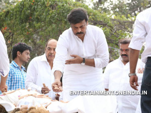 Chiranjeevi At ANR Funeral