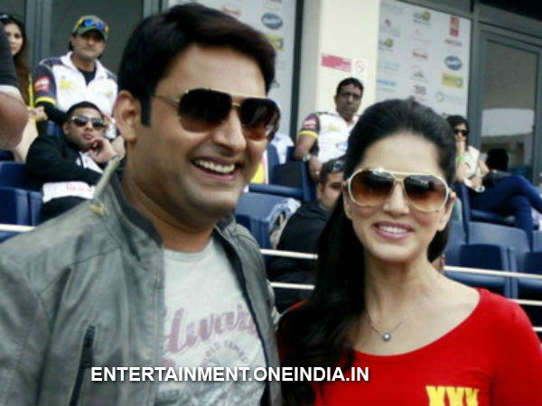 Kapil With Sunny Leone