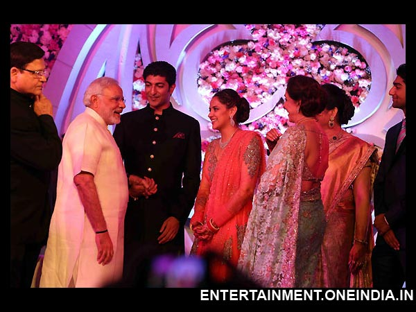 Narendra Modi At Ahana Deol's Wedding