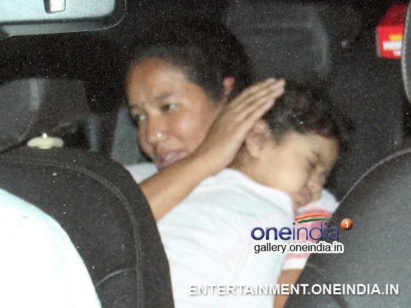 Aaradhya At Abhishek's Birthday Bash
