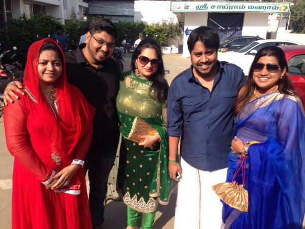 A Picture Of Yuvan With His Friend's Family