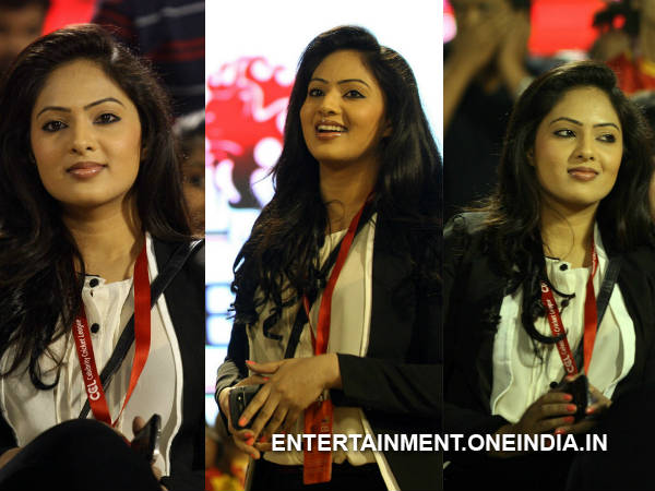 Nikesha Patel At Telugu Warriors Match In CCL 4