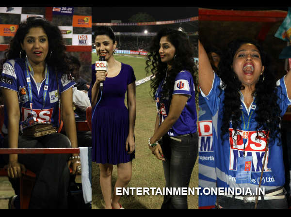 Suman Ranganath At Telugu Warriors Match In CCL 4