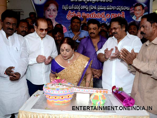 Picture: Vijaya Blows Off Candles At Birthday Celebration