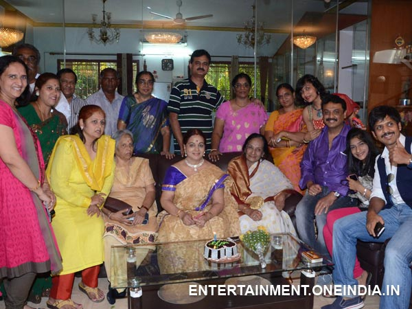 Vijaya With Friends And Relatives