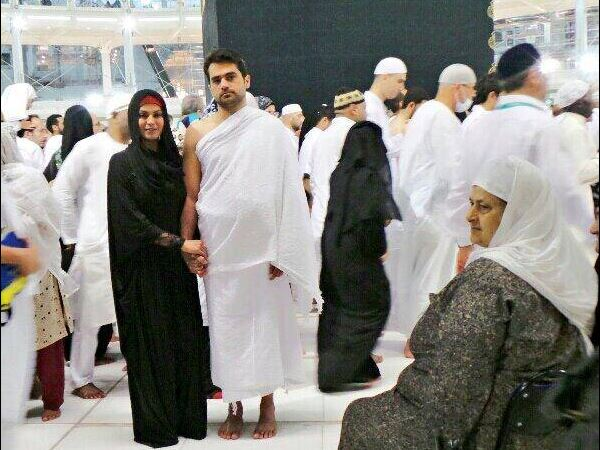 Veena Malik And Bashir In Mecca