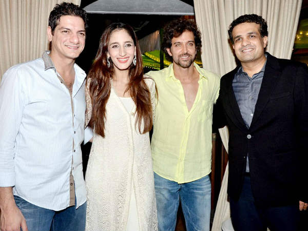 Hrithik Roshan with Sussannes family