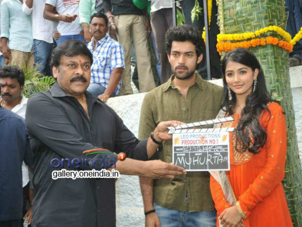Chiranjeevi Claps Board; Varun-Pooja Poses For First Shot