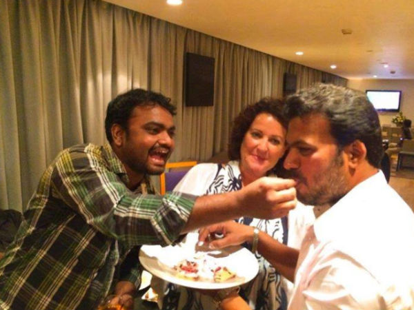 Shankar's Assitant Having A Blast At Ai Wrap Up Party