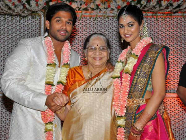 Arjun-Sneha With With His Grandmother