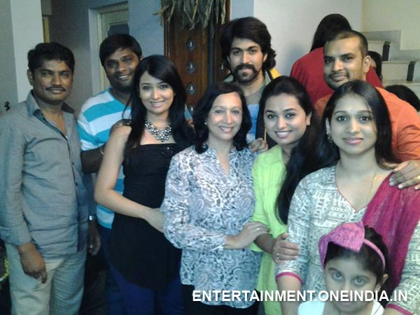 Yash At Radhika Pandit's Birthday Celebration