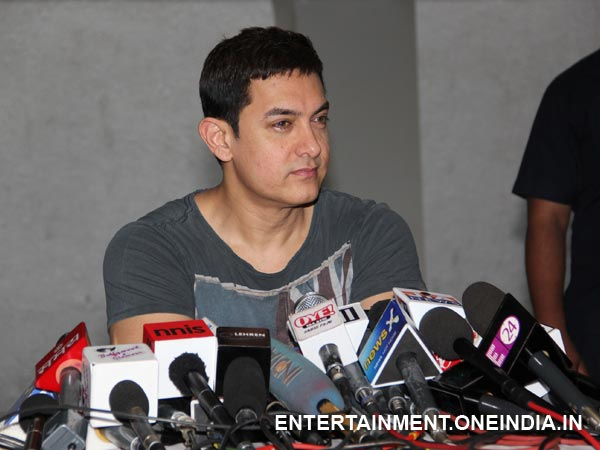 Aamir Khan Interacting With The Media