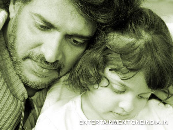Upendra With His Daughter Aishwarya