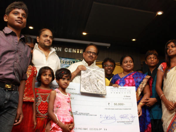 Charity Begins At Home For SP Balasubramaniam