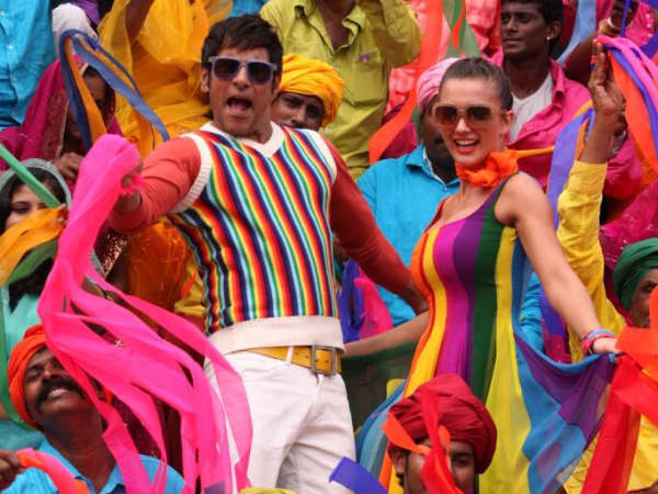 A Song Still From Vikram-Amy Jackson In Ai