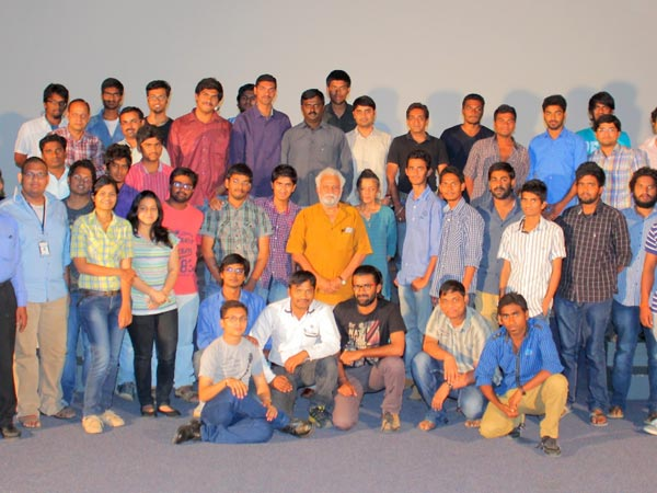 Venkatesh With Students