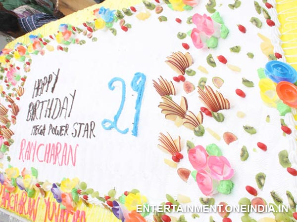 A Huge Cake Fro Ram Charan's 29th Birthday