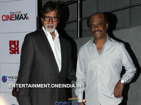 Picture: Amitabh Bachchan, Rajinikanth At Kochadaiiyaan Curtain Raiser