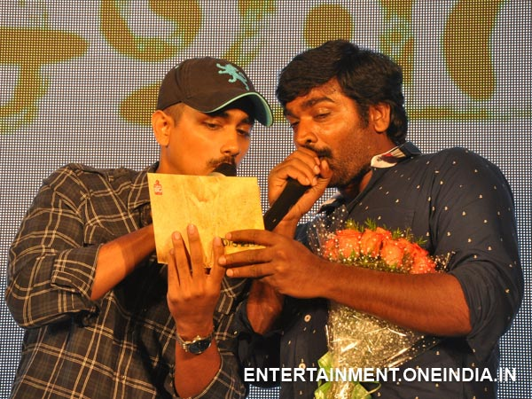 Pic: Siddharth With Vijay Sethupathi At Saivam Audio Launch
