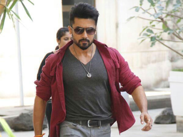 Surya tamil new year anjaan first look filmibeat suryas treat for his fans for tamil new year thecheapjerseys Images