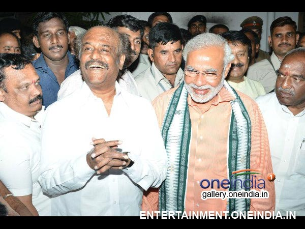 Narendra Modi With Rajinikanth - Picture 2