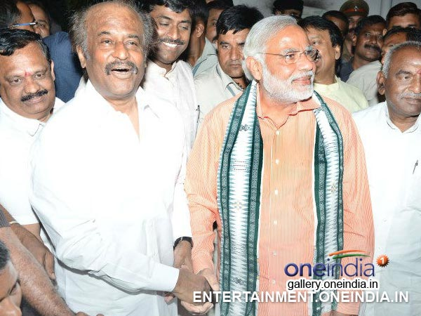 Narendra Modi With Rajinikanth - Picture 3
