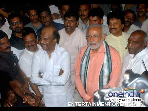 Narendra Modi With Rajinikanth - Picture 5