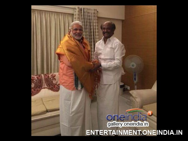 Narendra Modi With Rajinikanth - Picture 7
