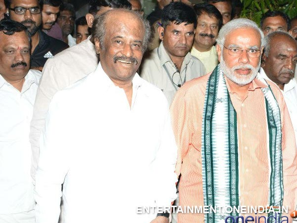 Narendra Modi With Rajinikanth - Picture 8
