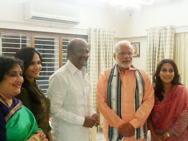 Photo: Narendra Modi With Rajinikanth Family