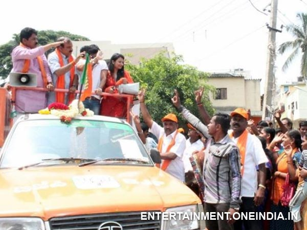 Ganesh Campaigning For Ananth Kumar