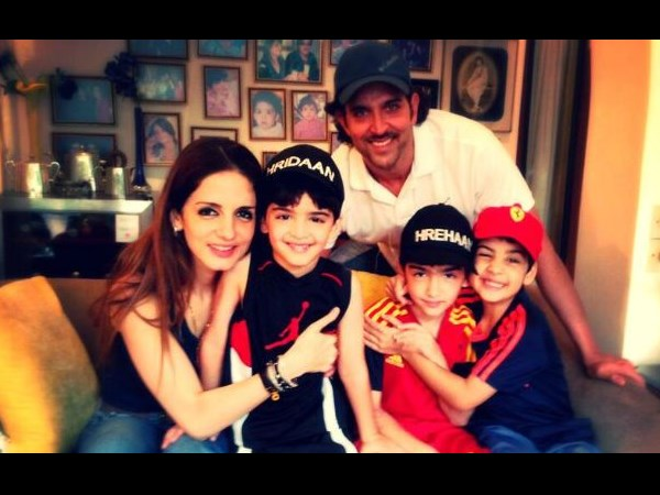 Hrithik And Sussanne With Their Kids