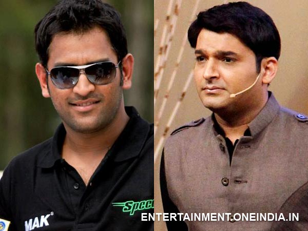 When Dhoni Pleasantly Surprised Kapil On CNWK Sets!