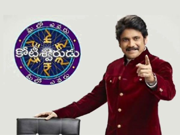 Nagarjuna Shooting For KBC Telugu Version