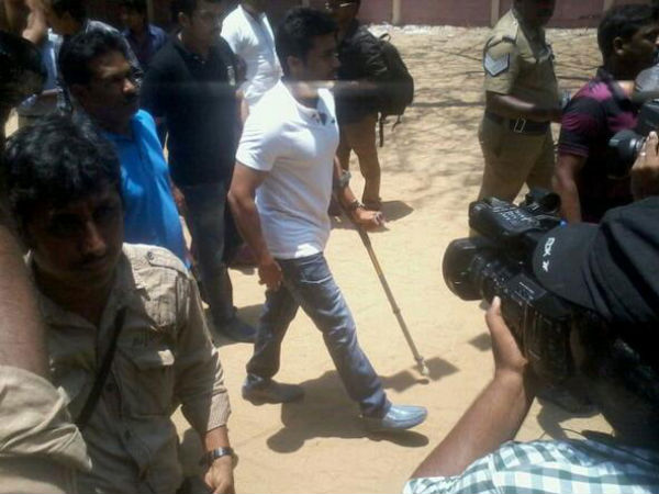 Photo: Surya Arrives To The Polling Booth