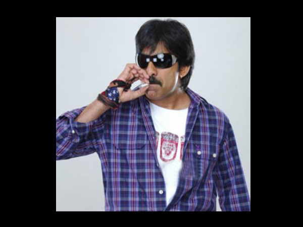Ravi Teja Smoking On Screen