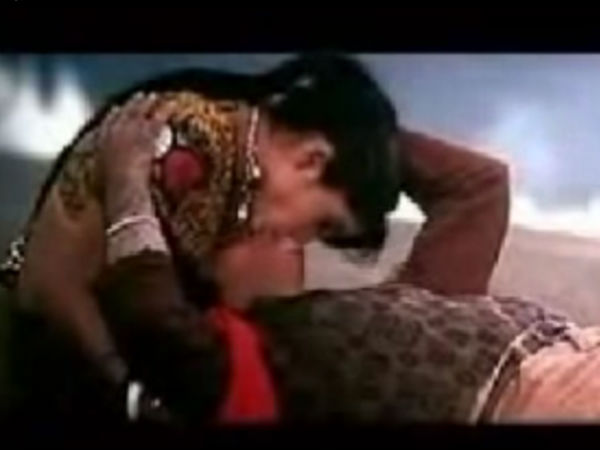 Photo: Vinod Khanna Kissing Ramya Krishnan