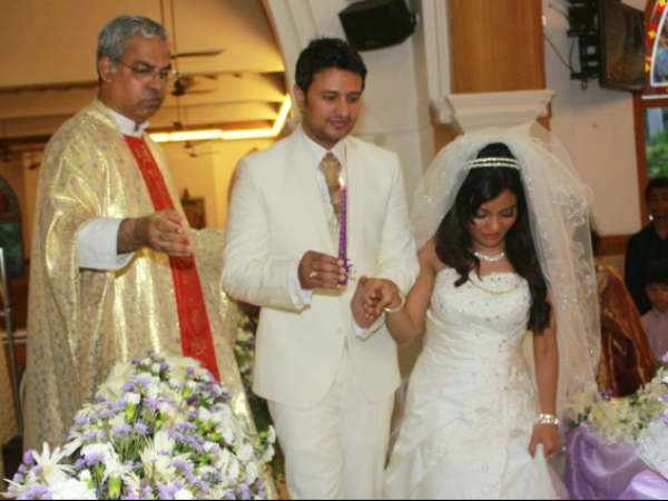 Raja Abel, Amritha With Church Father
