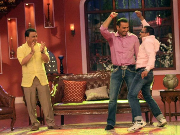 Sehwag Too Spotted Dancing
