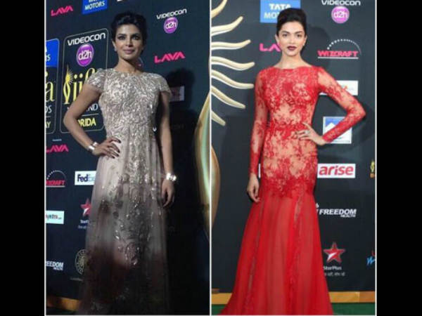Priyanka-Deepika At the IIFA Awards 2014
