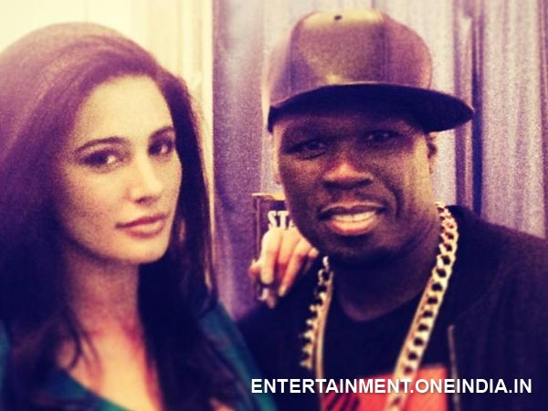 Nargis Fakhri with 50 Cent