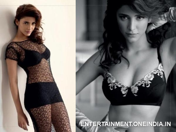 Shruti Hassan In Hot Black Bikini
