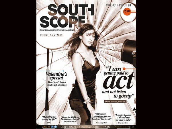 Shruti Hassan - South Scope Feb 2012